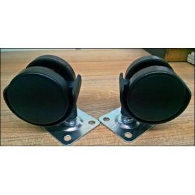 Ruedas De 40mm Plastica C/ Base S/ Freno - Herrajes Bonzini