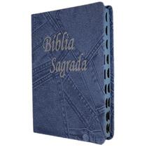 Bíblia Pequena - Capa Luxo Jeans Azul