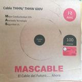 Rollo De Cable N°12 Awg, 100 Metros Marca Mascable.
