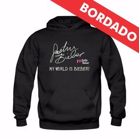 Canguru Bordado Justin Bieber Moletom Moleton Blusa Unissex