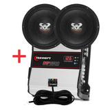 Kit 2 Woofer Ultravox 12 1100 Wrms +módulo Taramps Dps 2500