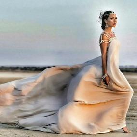 Vestidos De Ensaio Gravida Buque Fotografia Aberto Na Costas