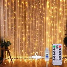 Cortinas Serie Luces 300 Led Decorativas Usb 8 Modelo 3x3m