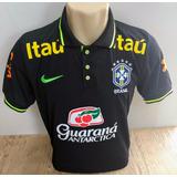 Camiseta Polo Da Seleção Brasileira Modelo Passeio-treino