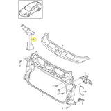 Suporte Radiador Lado Direito Porsche Panamera 97050451801