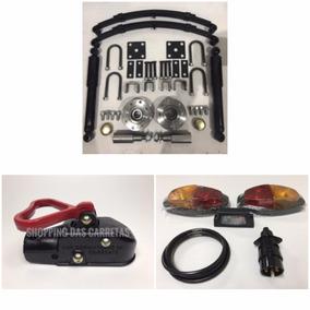Kit De Suspensão Para Carretinha 500kg Munheca Kit Eletrico