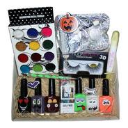 Kit Decoración Halloween Fiesta Uñas + Pestañas 3d