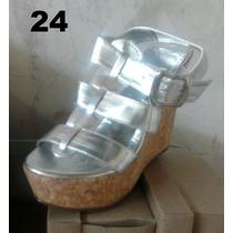 Vendo Bellas Sandalias Dorada Y Plateada