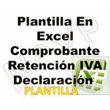 Plantilla Excel Comprobante Ret Iva Seg Providencia 049
