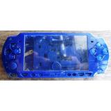 Carcasa Psp Todo Los Modelos 3000 Sony Azul Original Usado.