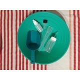 Kit 10 Batea 26 Cms Pala Vial Botella Gotario Lavar Oro Rios