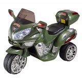 Moto Triciclo A Bateria Grande Policia 6v Luces 2 Marchas