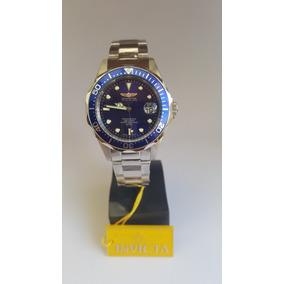 Invicta Pro Diver Modelo 9204 - Prata Com Detalhes Em Azul