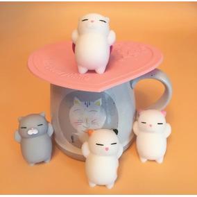 10 Gato Preguiça Mochi Squishy 3d Aperta Barriga Anti Stress