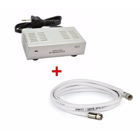 Modulador Rca Audio Video P/ Rf + Cabo Coaxial F 1.5mt
