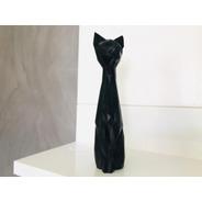 Gato Decorativo Geométrico Low Poly 40cm