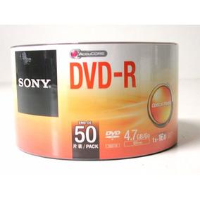 50 Midias Dvd-r Virgem Dvdr Sony C/logo 1-16x 4.7gb 120 Min