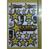 Hoja De Sticker Pre Cortadas Rockstar.