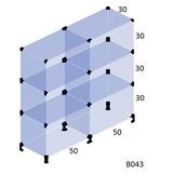 Balcao Vitrine P/ Loja Modulado Vidro 1,0 X 1,0 X 0,30 B043