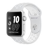 Apple Watch 42 Mm Nike + Silver Aluminum Case-nike Sport