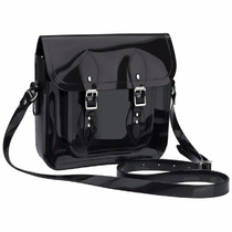 Bolsa Melissa Satchel + The Cambridge Satchel Co Ad Preto