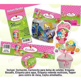 Kit Imprimible Rosita Fresita Fiesta Niña Etiquetas Candy