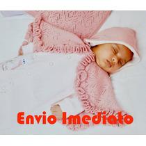 Saida Maternidade Bebê Menina Fofinho Poncho Pronta Entrega