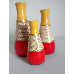 Trio De Vasos Decorativo