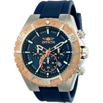 Invicta Hombre 22523 Aviator Reloj Acero Inoxidable Azul