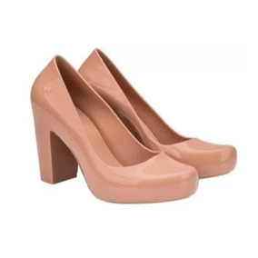 Sapato Feminino Zaxy Nude Estilo Melissa Salto Alto Cód 63