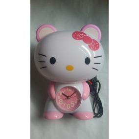 Lampara Reloj Hello Kitty
