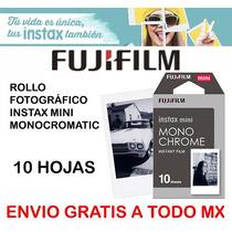 Papel Rollo Foto Instax Mini 10pz Monocromático Envío Gratis