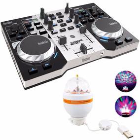 Consola Hercules Dj Instinct + Placa De Sonido + Luz Led