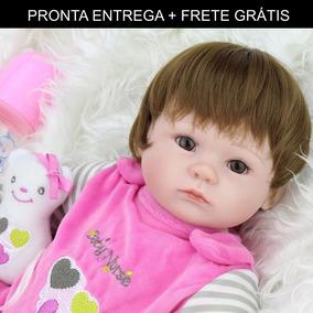 Bebe Reborn Boneca Silicone Menina Barato - Pronta Entrega