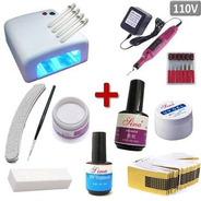 Kit Unha Acrigel Inicial  Cabine Uv  *lixa *eletrica * Kit G