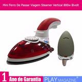 Mini Ferro De Passar Viagem Steamer Vertical 800w Bivolt
