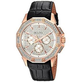 Bulova Reloj De Pulsera De Cristal De Swarovski Para Hombre