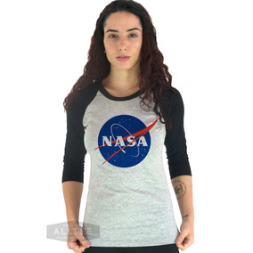 a0d8362fe Camiseta 3 4 Camisa Nasa Geek Tumblr Vaza Science Universo