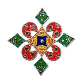 Día De La Independencia De Navidad Decoraciones - Rangoli -