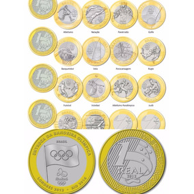 Coleção 17 Moedas Comemorativas Às Olimpíadas 2016