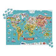 Puzzle Mapa Del Mundo 500pcs Para Niños