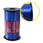 1 Rolo Com 100mts De Fita De Cetim N°1 - 7mm Azul Royal
