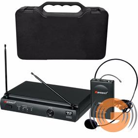 Microfone Sem Fio Karsect Kru 301 Headset Profisional Cabeça