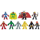 Conjunto Marvel Super Hero Adventures Com 10 Bonecos