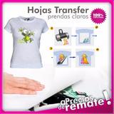 Papel Transfer Remeras Claras X 30 Unidades