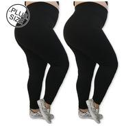 Kit 2 Leggings Plus Size Leg Basic Suplex Blogueiras