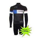Conjunto Ciclismo E Mtb Bermuda + Camisa + Manguito Orbea