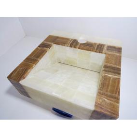 Lavabo Ovalin Onix Mármol Baño Moderno Blanco Chocolate 890