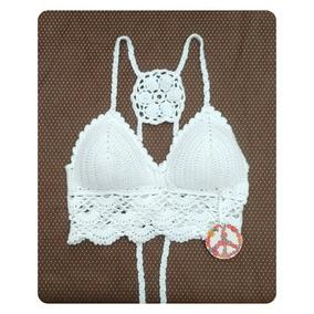 Top Crop Crochet Con Tasas