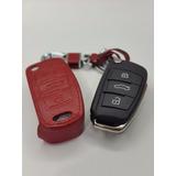Funda Llavero Audi 3 Botones Rojo A1 A3 A5 A7 Q3 Q7 Tt R8